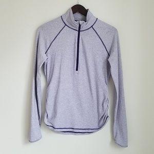 Lucy Lightweight Half Zip Purple Pullover